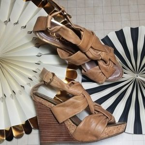 BCBG Paris Platform Cork Wedges size 7.5